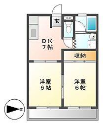 CASA KII(カーサ)[2階]の間取り