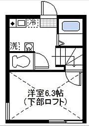 グランドゥール横浜[103号室]の間取り