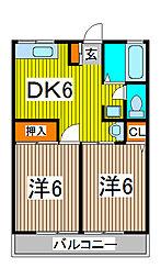 シティハイムアルファ[1階]の間取り