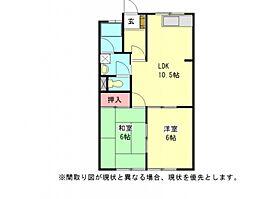 愛知県一宮市小信中島字郷浦の賃貸マンションの間取り