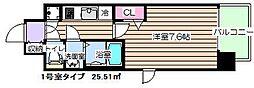 レジュールアッシュ福島フィーノ[7階]の間取り