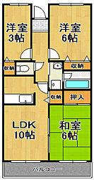 敷島プラザ[6階]の間取り