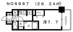 レジュールアッシュ天王寺[3階]の間取り