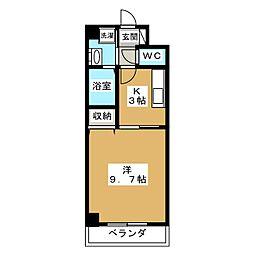 SQUARE HILLS MOMOYAMA[3階]の間取り
