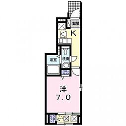 エクセル白糸台[1階]の間取り