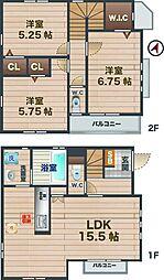 [一戸建] 東京都中野区上高田4丁目 の賃貸【/】の間取り