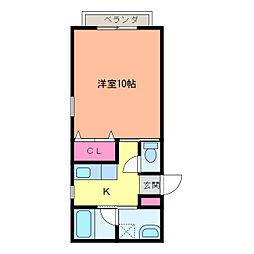 ハウスM&M[103号室]の間取り