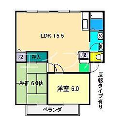 アビタシオン高見II[2階]の間取り