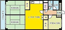 松本ビル[402号室]の間取り