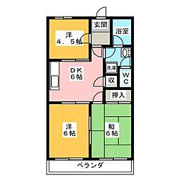 エスポア95[4階]の間取り