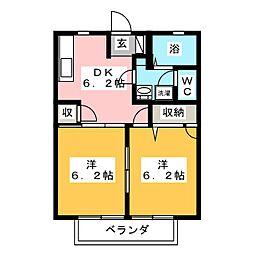 ディアコート大崎 A棟[1階]の間取り