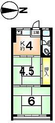 第2吉村マンション[2階]の間取り