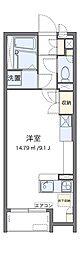南海高野線 大阪狭山市駅 徒歩10分の賃貸アパート 1階ワンルームの間取り
