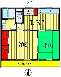 篠田第一ニューハイツ[2階]の間取り