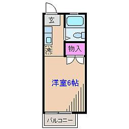 神奈川県横浜市港北区菊名7丁目の賃貸アパートの間取り
