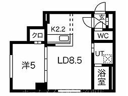 EUKOT27 3階1LDKの間取り