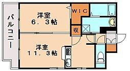 エストレイラ飯塚[5階]の間取り