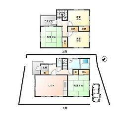 [一戸建] 福岡県福岡市博多区那珂3丁目 の賃貸【/】の間取り