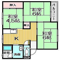 西村第2ビル[402号室]の間取り