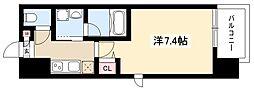 ヴィークブライト名古屋新栄 5階1Kの間取り