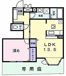 東京都立川市砂川町4丁目の賃貸アパートの間取り