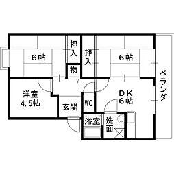 サンライズ青山[2階]の間取り