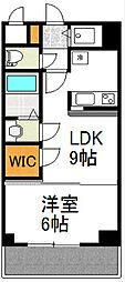 Osaka Metro御堂筋線 新大阪駅 徒歩3分の賃貸マンション 24階1LDKの間取り