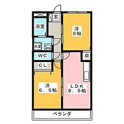 クレセントコートノア[2階]の間取り
