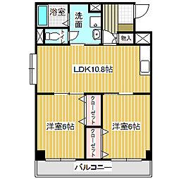 愛知県名古屋市中川区八神町3丁目の賃貸アパートの間取り