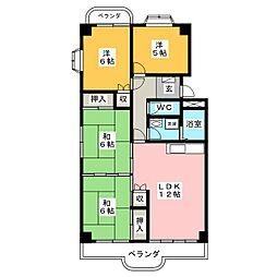 三豊マンション瑞穂[3階]の間取り