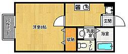京都府京都市上京区東今小路町の賃貸アパートの間取り