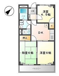 グレイスタウンMIWA A[1階]の間取り
