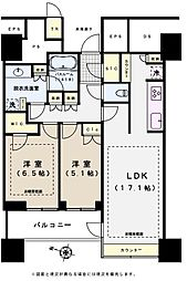 パークコート文京小石川ザタワー 29階2LDKの間取り