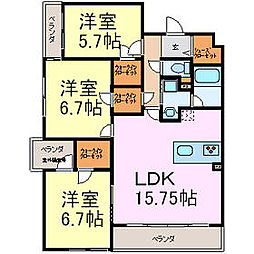 愛知県名古屋市千種区西崎町2丁目の賃貸マンションの間取り