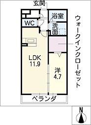 メゾン新守西[1階]の間取り