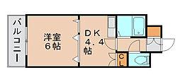 ライオンズマンション博多中央[3階]の間取り