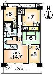 マークスゲート京都サウス[3階]の間取り