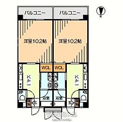 沖縄都市モノレール 市立病院前駅 徒歩9分の賃貸マンション 3階1Kの間取り