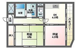 メゾン杭全[2階]の間取り