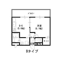 大阪府高槻市城東町の賃貸アパートの間取り