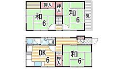 [一戸建] 大阪府大東市錦町 の賃貸【/】の間取り