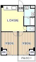 レグルスコーポ花澤[2階]の間取り