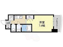 Luxe神戸WEST 5階1Kの間取り