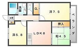 サニーヒル上田[2階]の間取り