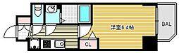 プレサンス松屋町グレース 5階1Kの間取り