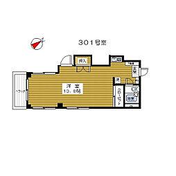タキマンション[301号室]の間取り