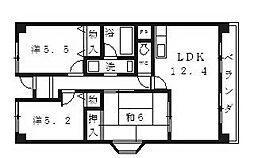 プレミール28[401号室号室]の間取り