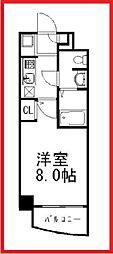 東京都台東区西浅草2丁目の賃貸マンションの間取り