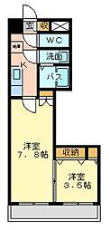 デザイナープリンセス77[11階]の間取り