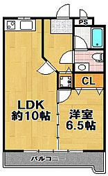 マンション白鳳[2階]の間取り